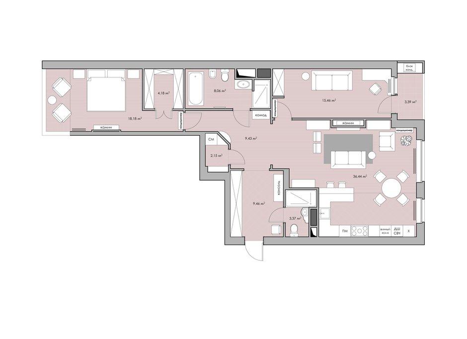 Фотография: Планировки в стиле , Квартира, Цвет в интерьере, Дома и квартиры, Проект недели, Серый – фото на INMYROOM