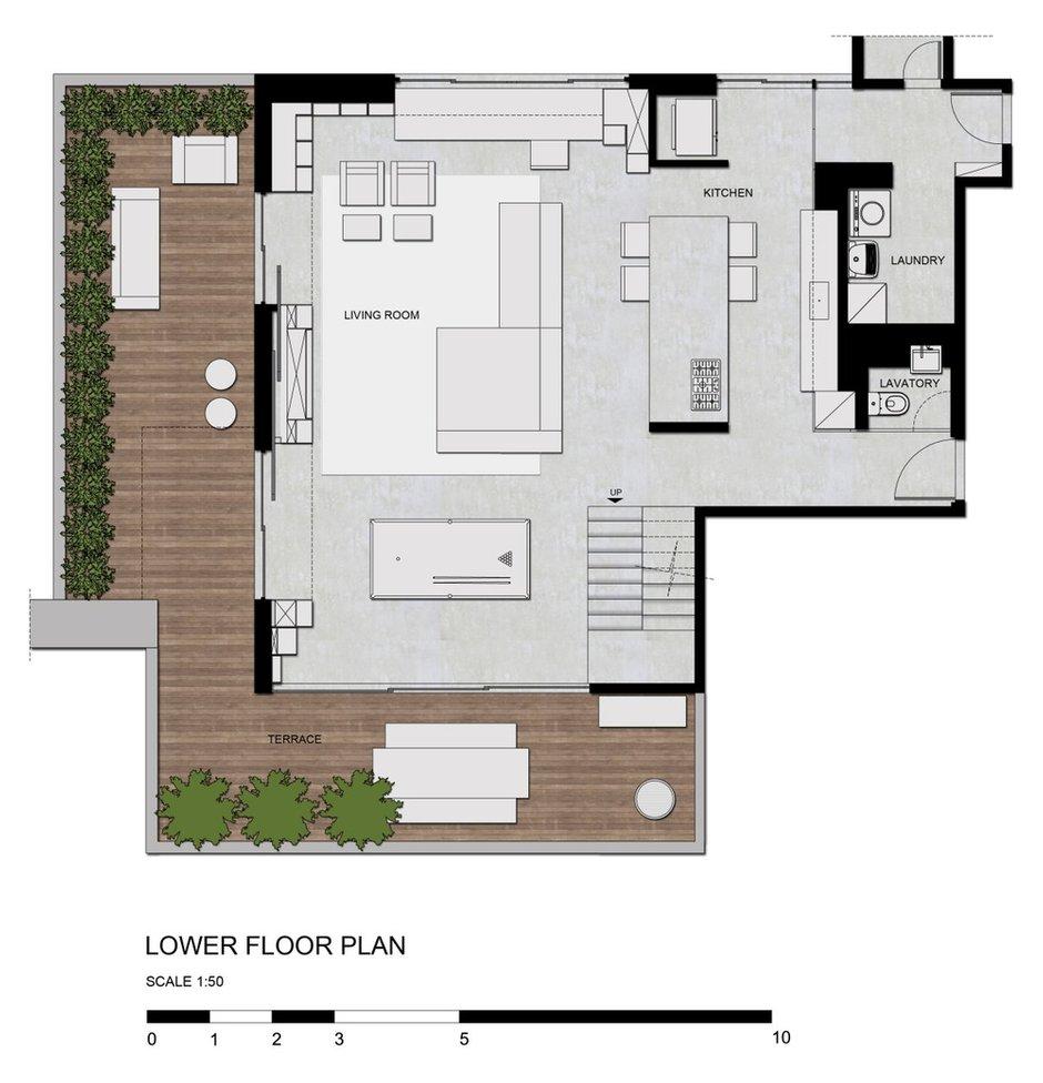 Фотография: Планировки в стиле , Современный, Дом, Цвет в интерьере, Дома и квартиры, Серый, Бразилия, Пол, Сан-Паулу – фото на INMYROOM
