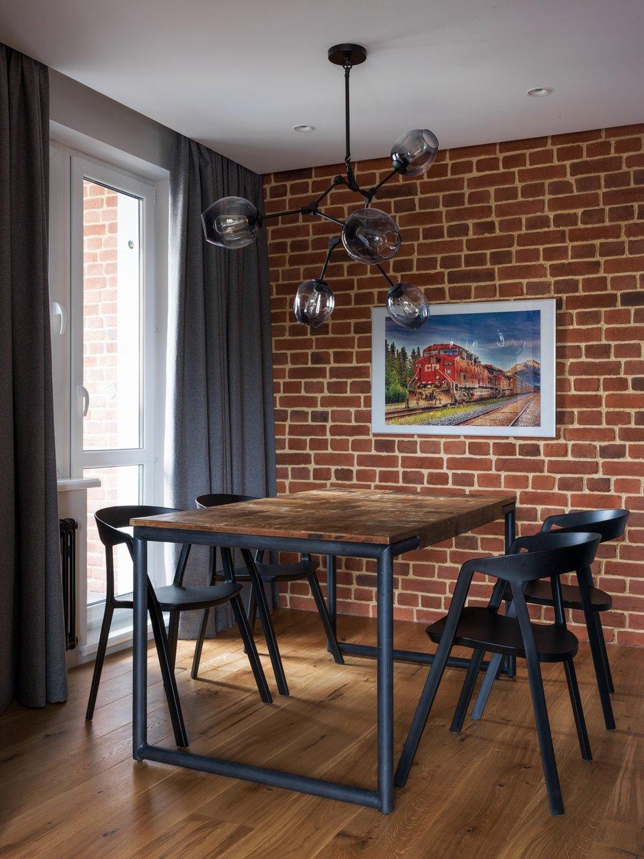 Фотография: Кухня и столовая в стиле Лофт, Современный, Квартира, Проект недели, Geometrium, Монолитный дом, 2 комнаты, 60-90 метров, ЖК «Сколковский» – фото на INMYROOM