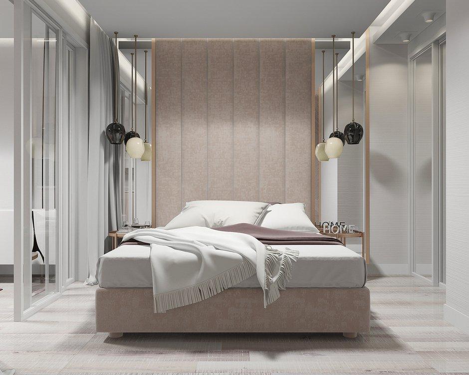 Фотография: Спальня в стиле Современный, Квартира, Студия, Проект недели, Новая Москва, Монолитный дом, 40-60 метров, Лена Логинова – фото на INMYROOM