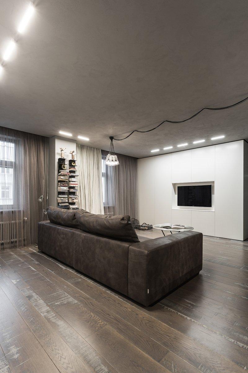 Фотография: Гостиная в стиле Лофт, Квартира, Дома и квартиры, Минимализм – фото на INMYROOM
