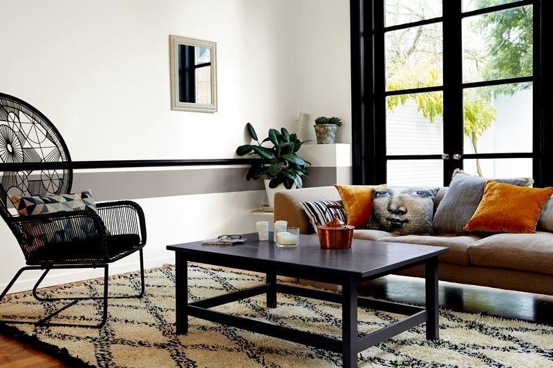 Фотография: Гостиная в стиле Восточный, Декор интерьера, Дизайн интерьера, Цвет в интерьере, Советы, Dulux, Серый – фото на INMYROOM
