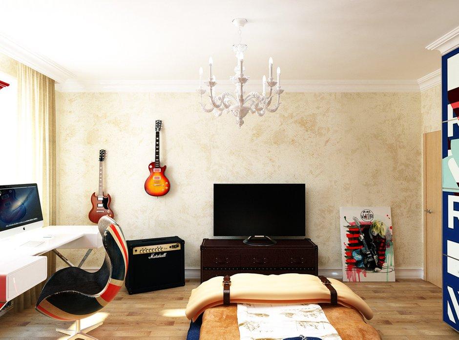 Фотография: Гостиная в стиле Лофт, Квартира, Проект недели, Эко – фото на INMYROOM
