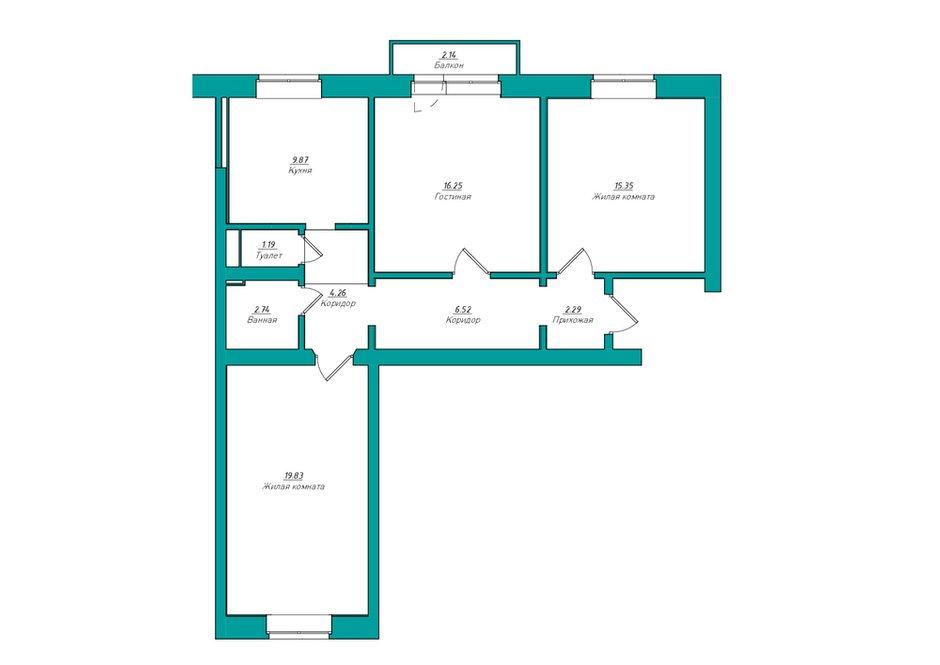 Фотография: Планировки в стиле , Современный, Квартира, Проект недели, Москва, Co:Interior, Сталинка, 3 комнаты, 60-90 метров – фото на INMYROOM