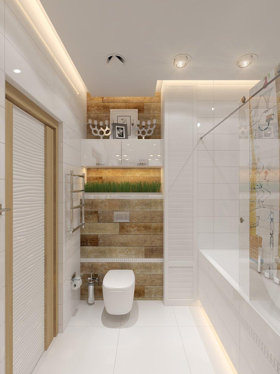 Фотография: Ванная в стиле Лофт, Современный, Малогабаритная квартира, Квартира, Хранение, Мебель и свет, Дома и квартиры, Проект недели – фото на INMYROOM