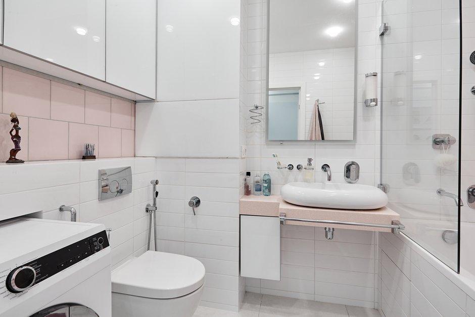 Фотография: Ванная в стиле Современный, Квартира, Проект недели, Москва, Монолитный дом, 1 комната, 40-60 метров, Алла Апалкова – фото на INMYROOM