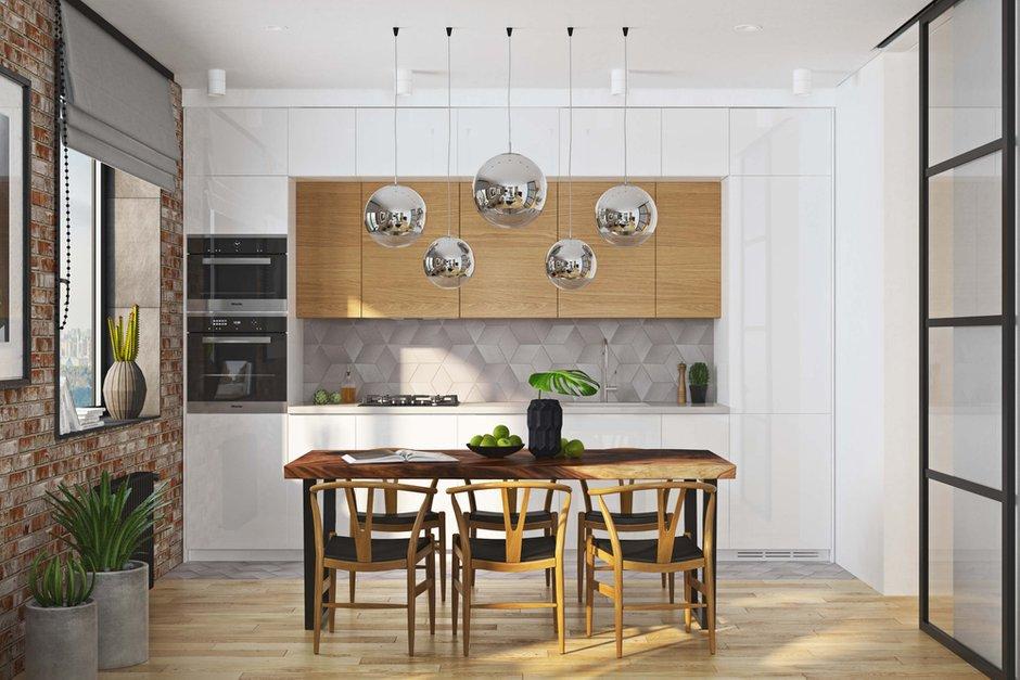 Фотография: Кухня и столовая в стиле Современный, Квартира, Проект недели, Москва, Geometrium, ЖК «Водный», 2 комнаты, 60-90 метров – фото на INMYROOM