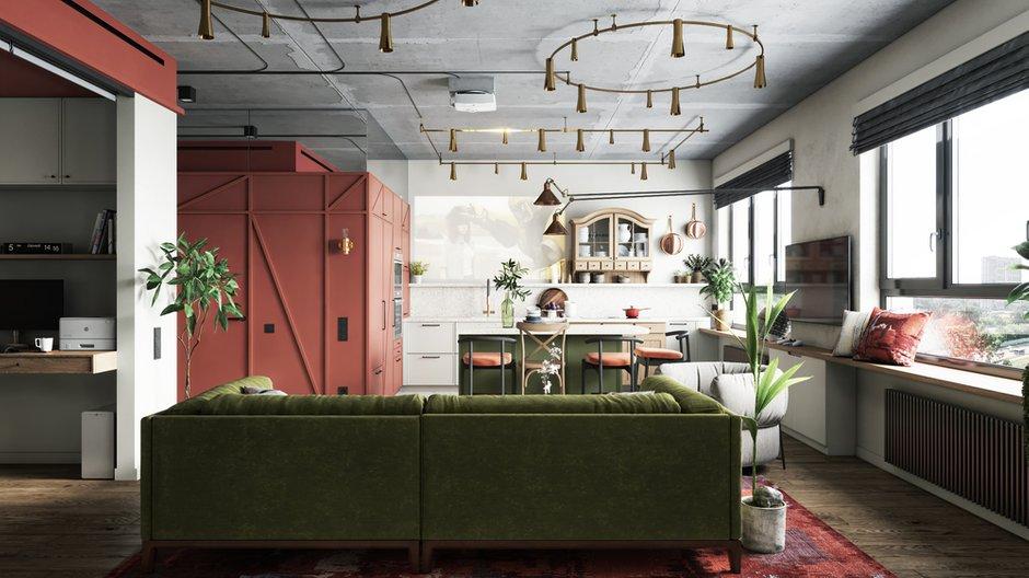 Фотография: Гостиная в стиле Эклектика, Квартира, Проект недели, Москва, ToTaste Studio, 3 комнаты, 60-90 метров – фото на INMYROOM