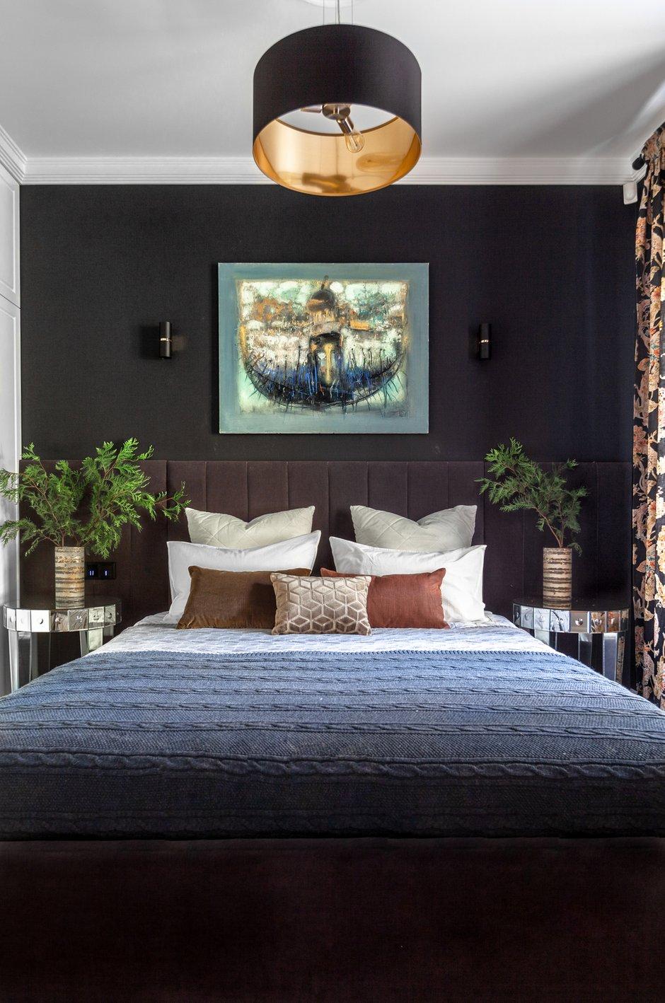Фотография: Спальня в стиле Эклектика, Квартира, Проект недели, Новосибирск, Кирпичный дом, 3 комнаты, 60-90 метров, Дарья Шапошникова – фото на INMYROOM