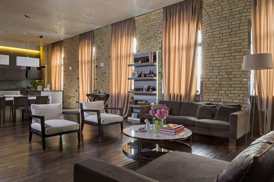 Фотография: Гостиная в стиле Лофт, Эклектика, Квартира, Украина, Дома и квартиры, Проект недели – фото на INMYROOM