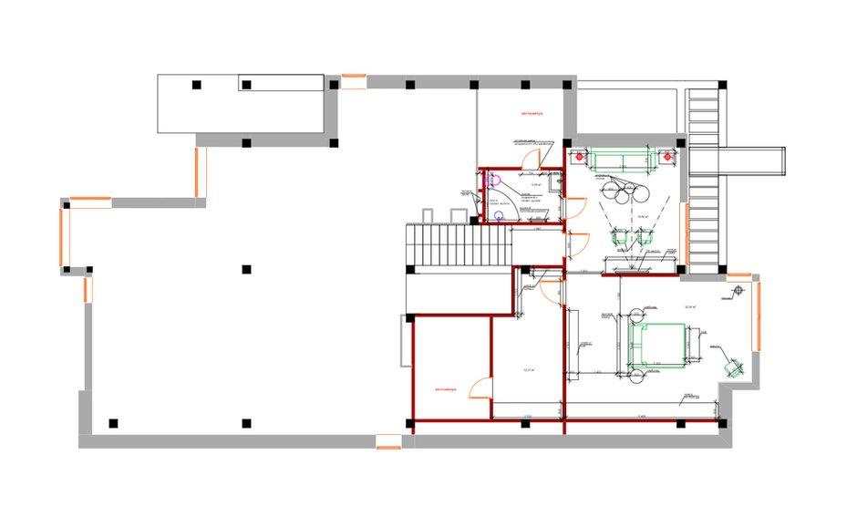 План с расстановкой мебели, 4 этаж