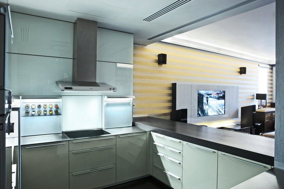 Фотография: Кухня и столовая в стиле Современный, Декор интерьера, Квартира, Miele, Дома и квартиры – фото на InMyRoom.ru