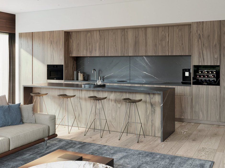 Фотография: Кухня и столовая в стиле Современный, Минимализм, Miele, Гид, G7000 – фото на INMYROOM
