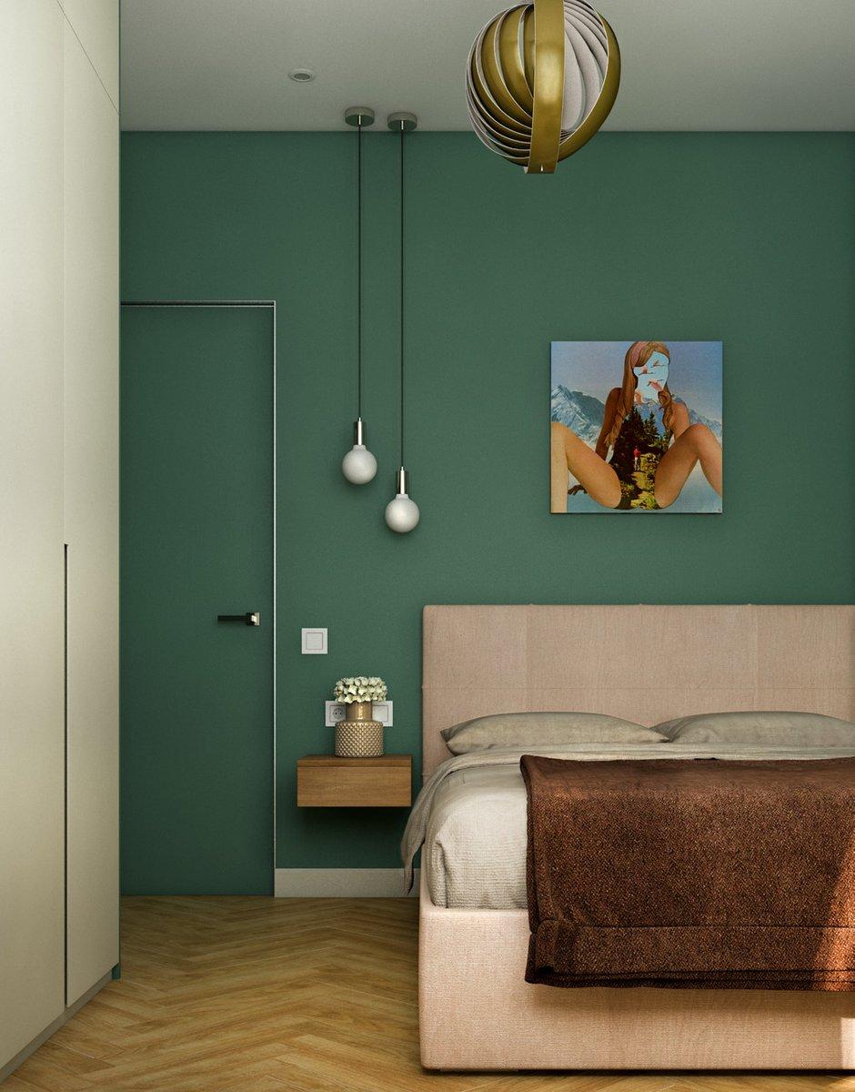 Фотография: Спальня в стиле Современный, Квартира, Проект недели, Москва, 1 комната, до 40 метров, Ольга Шакирова – фото на INMYROOM