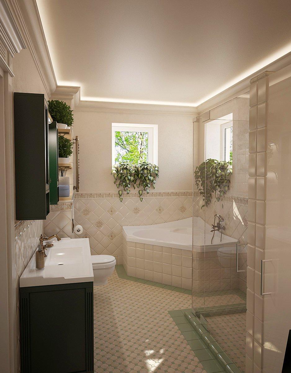 Фотография: Ванная в стиле Прованс и Кантри, Дом, Дома и квартиры, Прованс – фото на INMYROOM