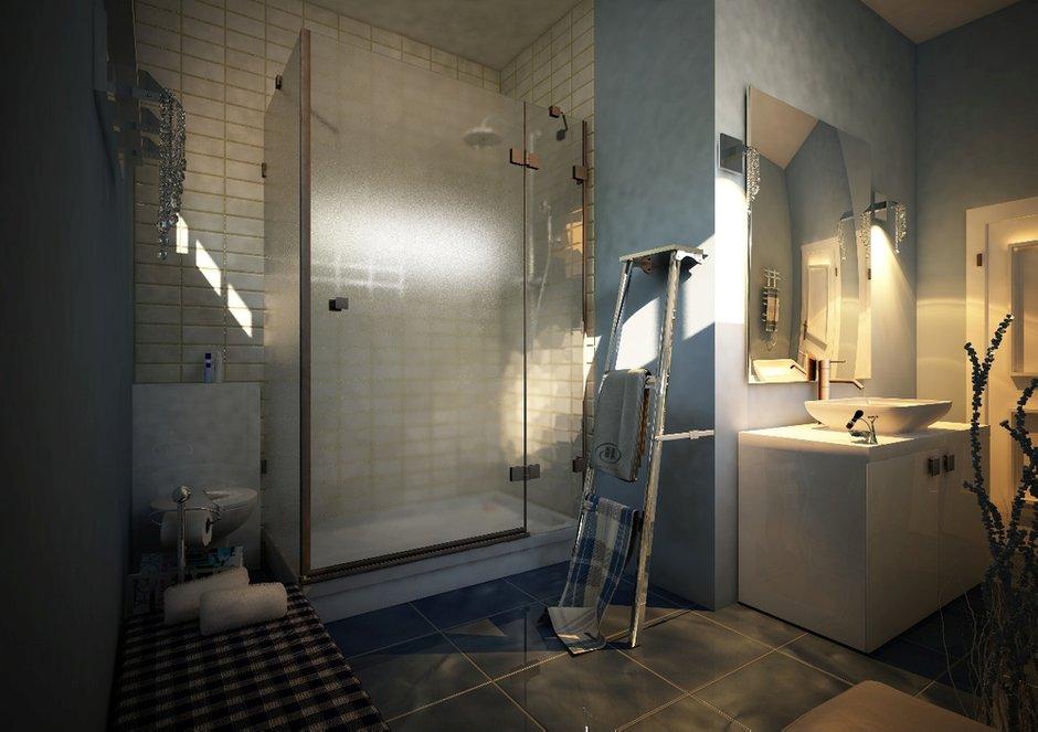Фотография: Ванная в стиле Лофт, Дом, Дома и квартиры, Проект недели, Современное искусство – фото на INMYROOM