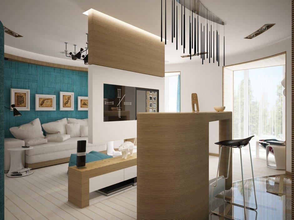 Фотография: Гостиная в стиле Лофт, Современный, Эклектика, Квартира, Перепланировка – фото на INMYROOM