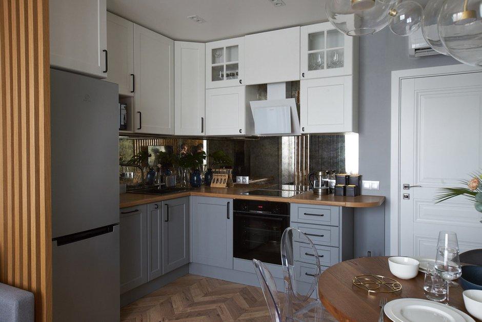 Фотография: Кухня и столовая в стиле Современный, Квартира, Проект недели, Москва, 2 комнаты, 40-60 метров, 60-90 метров, Светлана Пырх – фото на INMYROOM