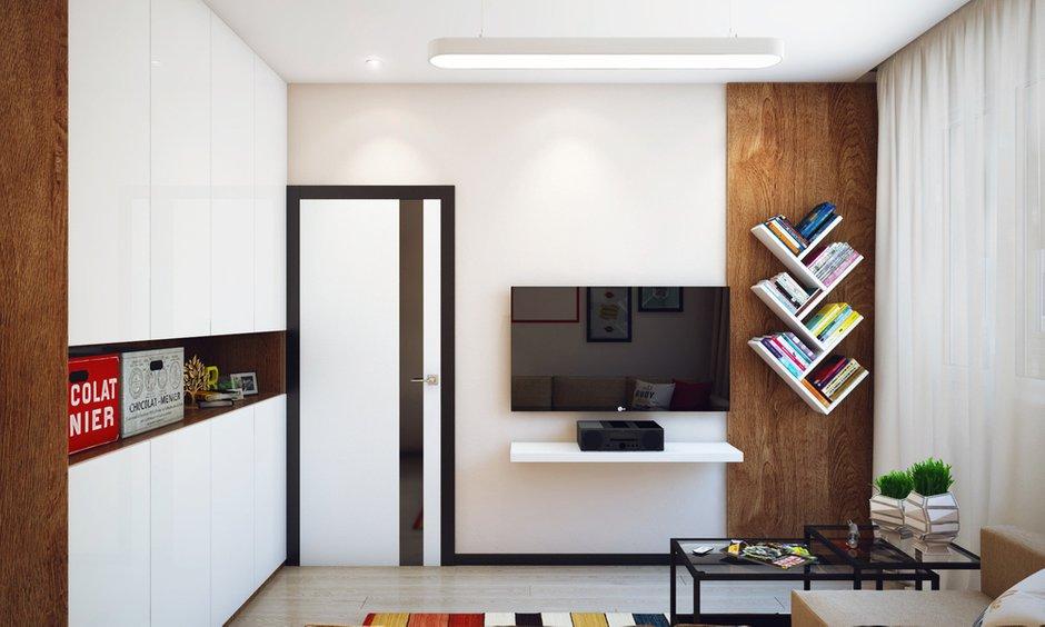 Фотография: Гостиная в стиле Лофт, Современный, Малогабаритная квартира, Квартира, Дома и квартиры, Проект недели – фото на INMYROOM