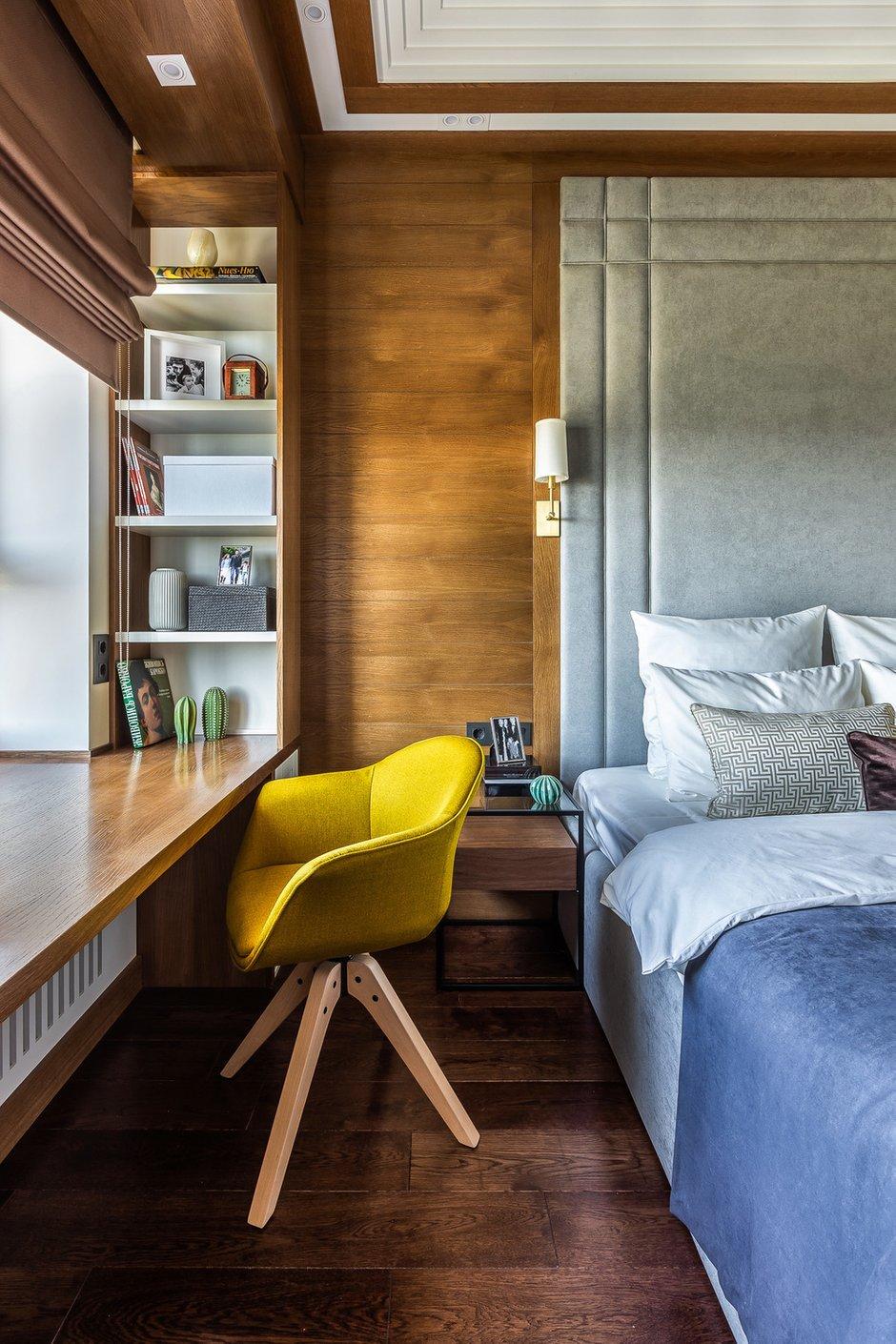 Фотография: Спальня в стиле Современный, Квартира, Проект недели, Москва, 2 комнаты, 40-60 метров, Алина Лютая – фото на INMYROOM