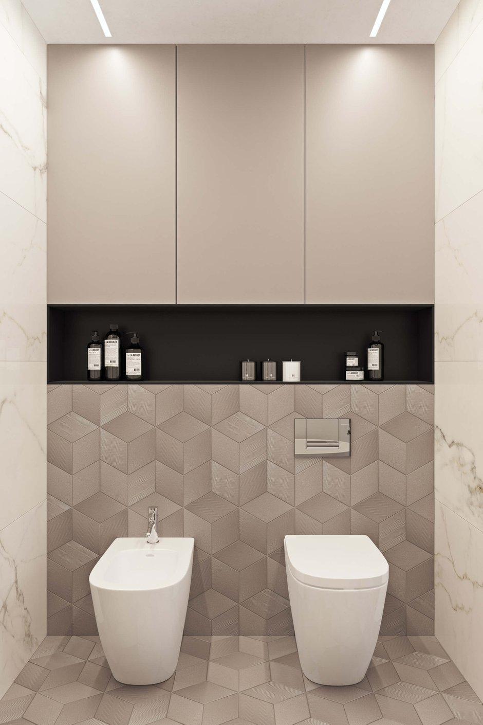 Фотография: Ванная в стиле Современный, Квартира, Проект недели, Москва, Geometrium, ЖК «Водный», 2 комнаты, 60-90 метров – фото на INMYROOM