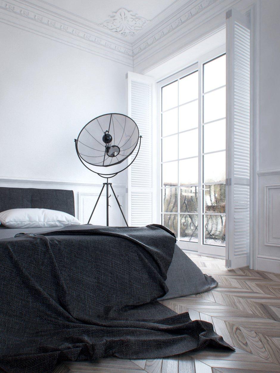Фотография: Спальня в стиле Современный, Скандинавский, Квартира, Минимализм, Проект недели – фото на INMYROOM