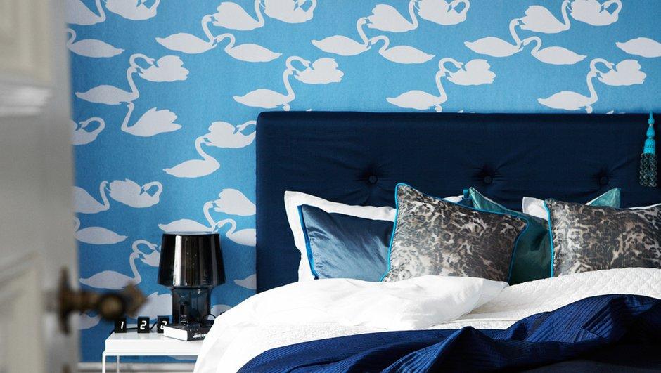 Фотография: Спальня в стиле Классический, Современный, Декор интерьера, Дизайн интерьера, Цвет в интерьере, Обои, Стены, Эко – фото на INMYROOM