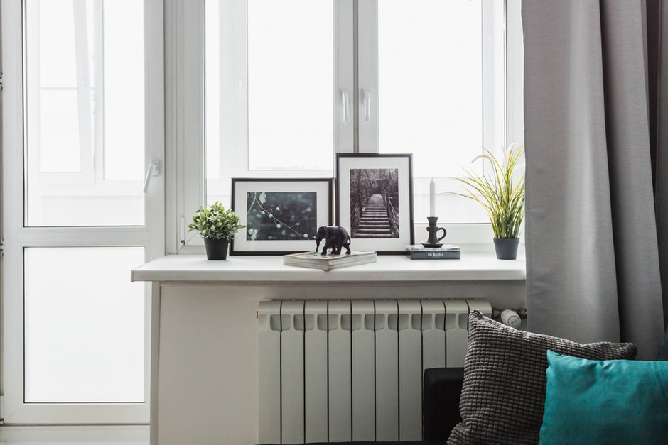 Фотография: Гостиная в стиле Скандинавский, Квартира, Проект недели, Москва, ИКЕА, Анна Ковальченко, Кирпичный дом, 1 комната, до 40 метров – фото на INMYROOM