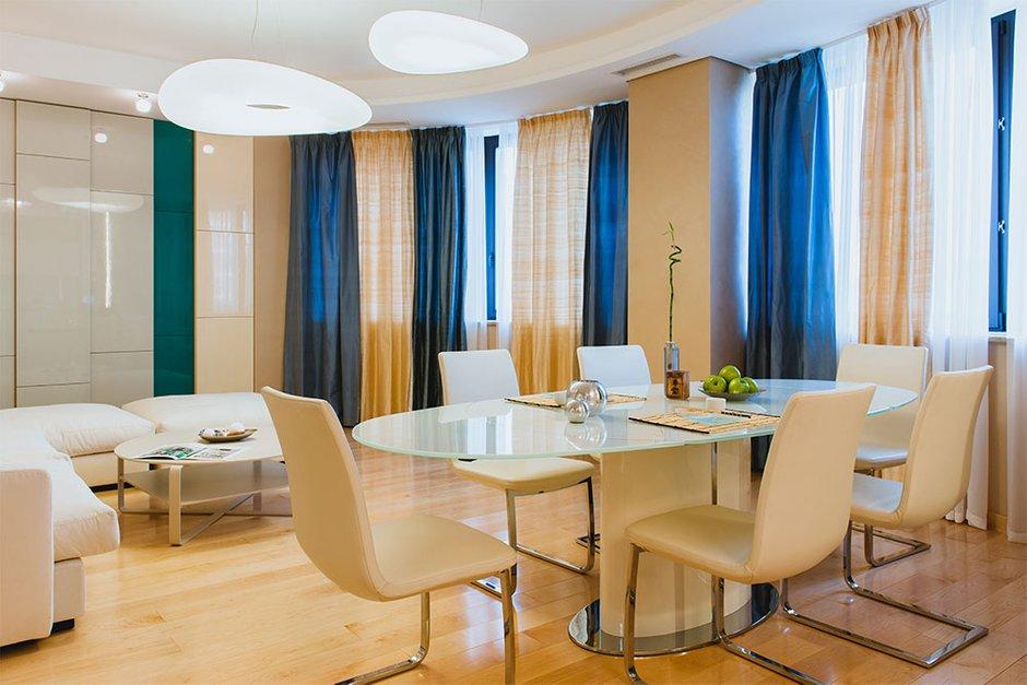 Фотография: Кухня и столовая в стиле Современный, Хай-тек, Квартира, Дома и квартиры, Москва – фото на INMYROOM