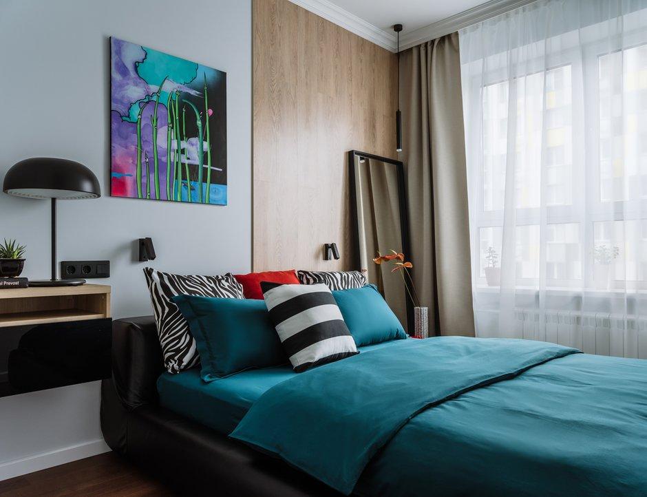 Фотография: Спальня в стиле Современный, Квартира, Проект недели, 2 комнаты, 60-90 метров, Люберцы, Евгения Пестова – фото на INMYROOM