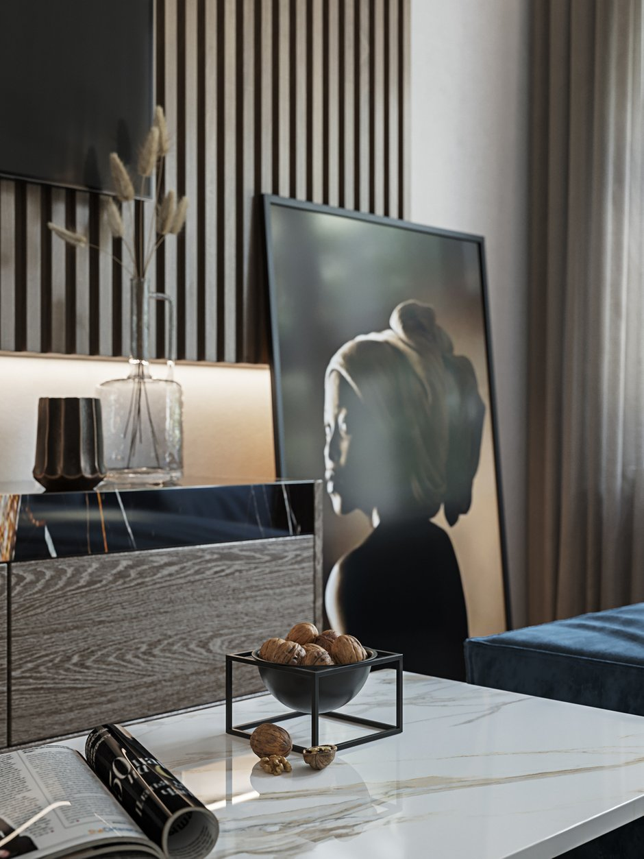Фотография: Гостиная в стиле Современный, Квартира, Проект недели, Москва, 3 комнаты, Более 90 метров, L. DesignStudio, Анна Лях – фото на INMYROOM