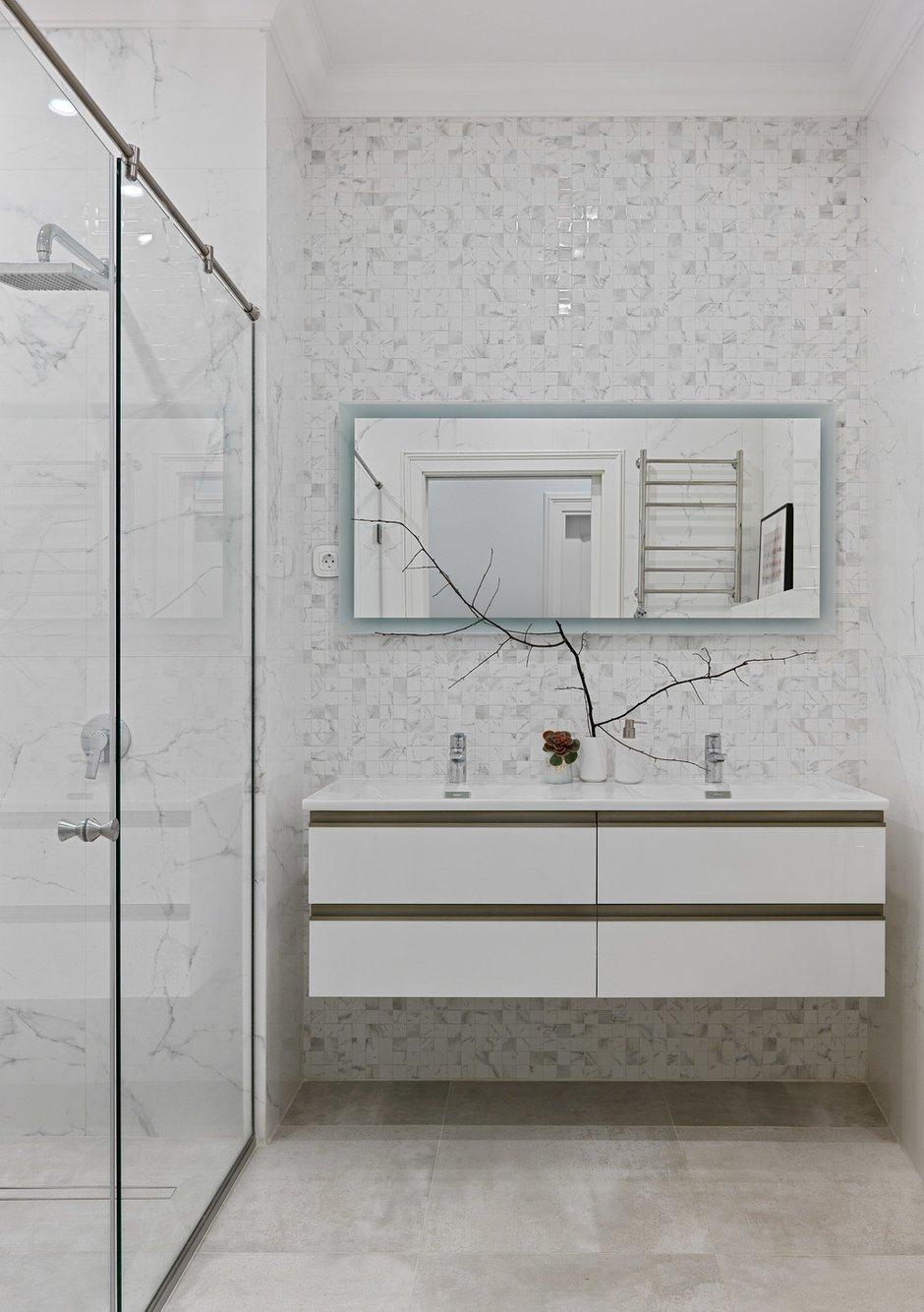 Фотография: Ванная в стиле Современный, Проект недели, Москва, Анастасия Муравьева, 4 и больше, Более 90 метров, #эксклюзивныепроекты – фото на INMYROOM