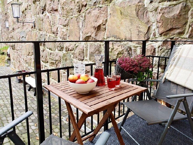 Фотография: Балкон, Терраса в стиле Прованс и Кантри, Современный, Малогабаритная квартира, Квартира, Швеция, Дома и квартиры – фото на INMYROOM