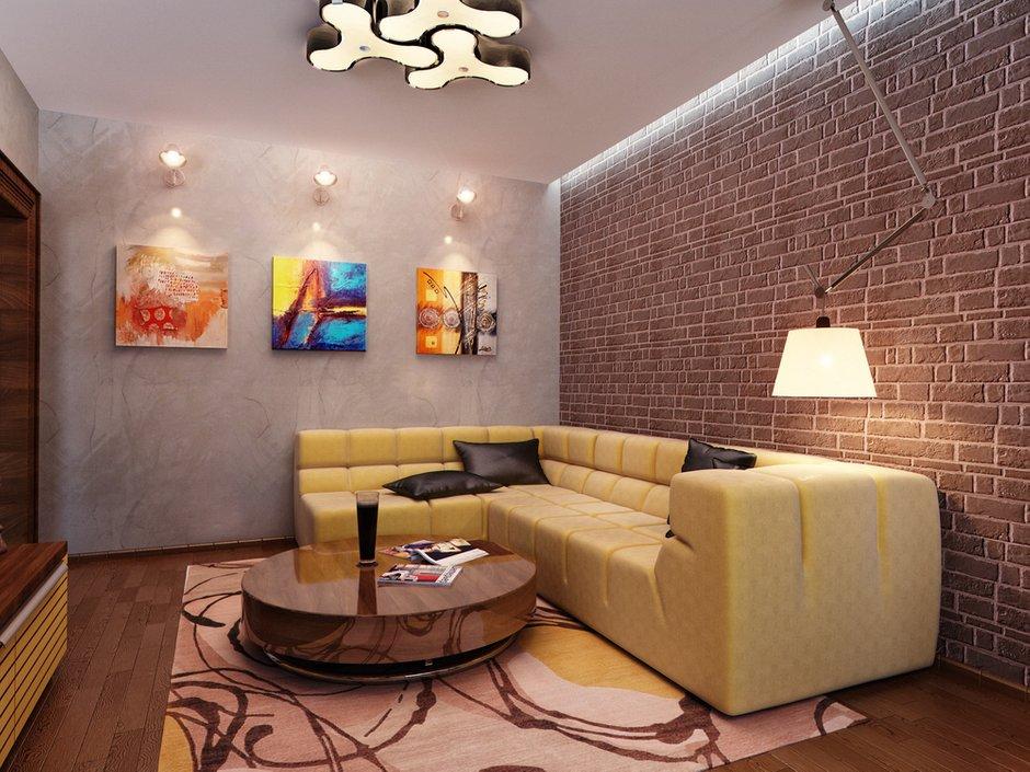 Фотография: Гостиная в стиле Лофт, Современный, Квартира, Проект недели – фото на INMYROOM