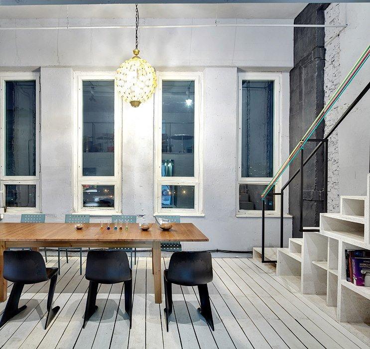 Фотография: Кухня и столовая в стиле Лофт, Декор интерьера, Освещение, Дизайн интерьера, Цвет в интерьере, Ольга Евдокимова – фото на INMYROOM
