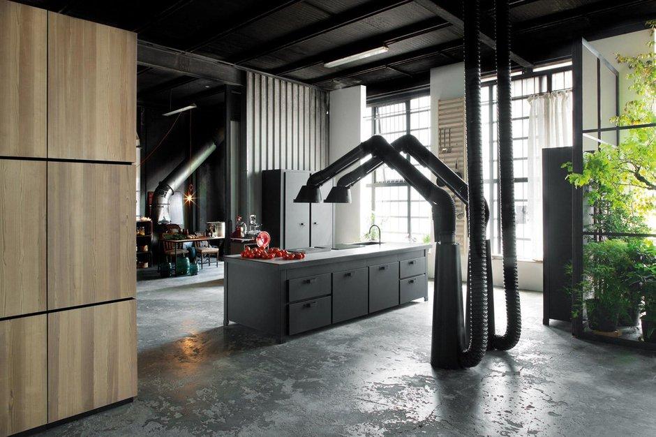 Фотография: Кухня и столовая в стиле Лофт, Дом, Дома и квартиры – фото на INMYROOM