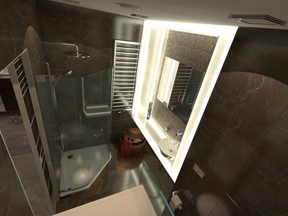 Фотография: Ванная в стиле Современный, Малогабаритная квартира, Квартира, Дома и квартиры – фото на INMYROOM