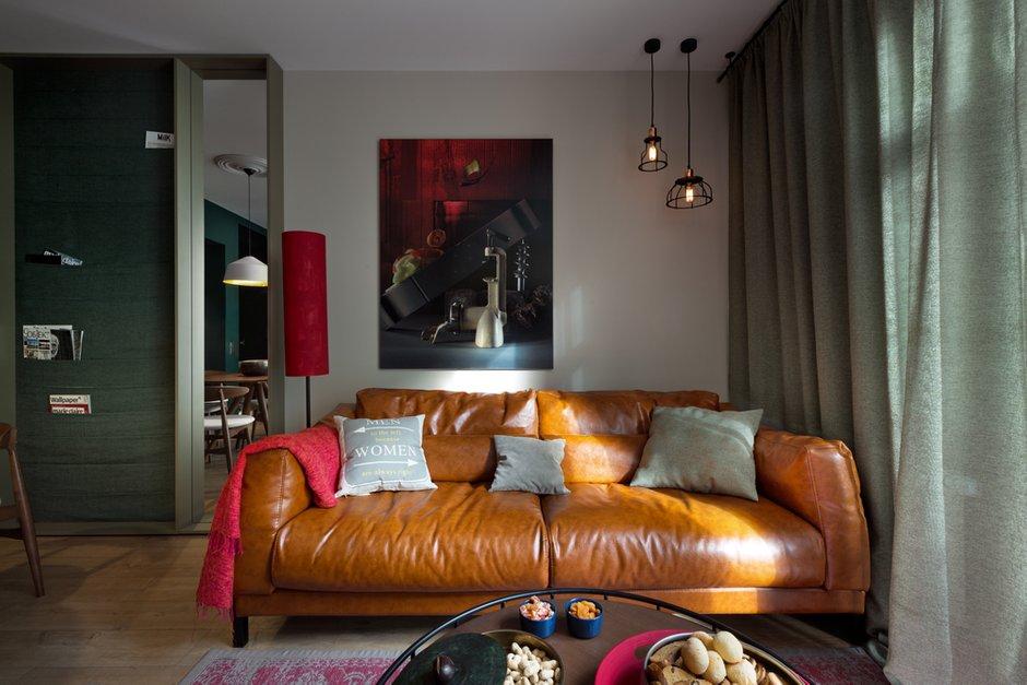 Фотография: Гостиная в стиле Современный, Квартира, Проект недели, 2 комнаты, 40-60 метров, Елена Фатеева, Fateeva Design – фото на INMYROOM