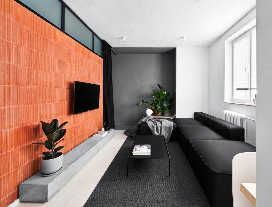Фотография: Гостиная в стиле Минимализм, Лофт, Малогабаритная квартира, Квартира, Студия, Проект недели, Калининград, до 40 метров, Line Design Studio – фото на INMYROOM