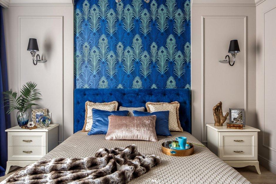 Фотография: Спальня в стиле Классический, Современный, Квартира, Проект недели, Монолитный дом, 3 комнаты, 60-90 метров, Саратов, Quadrum Studio – фото на INMYROOM