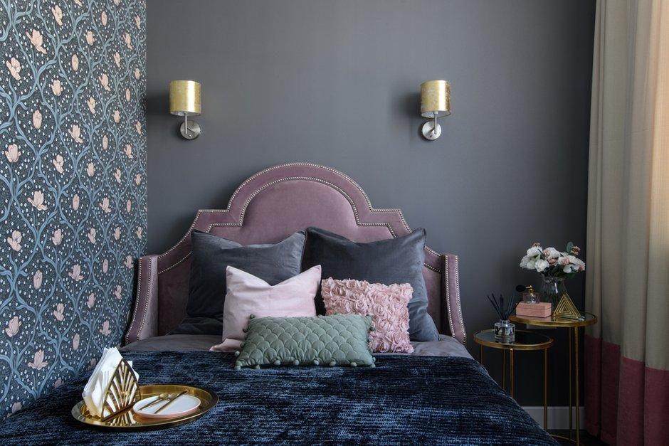 Фотография: Спальня в стиле Современный, Квартира, Проект недели, Москва, Монолитный дом, 1 комната, 40-60 метров, Анна Моджаро, ЖК «Оранж парк» – фото на INMYROOM