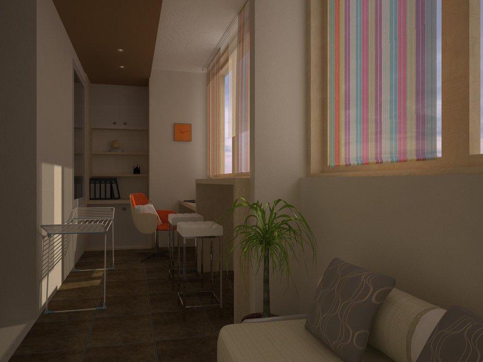 Фотография: Балкон, Терраса в стиле Современный, Квартира, Дома и квартиры, Перепланировка, Москва, Стена, Перегородки – фото на INMYROOM