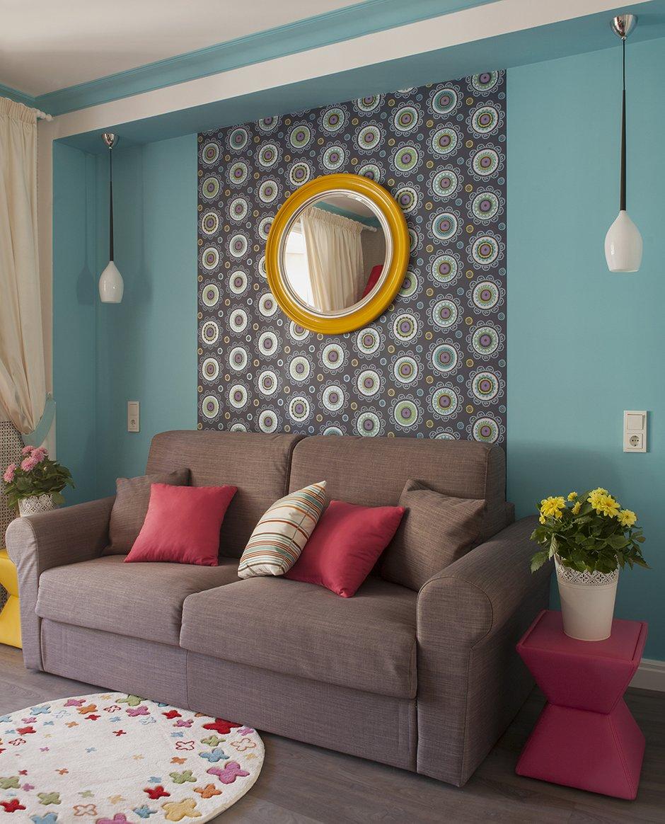Фотография: Гостиная в стиле Современный, Эклектика, Квартира, Дома и квартиры, И-155 – фото на InMyRoom.ru