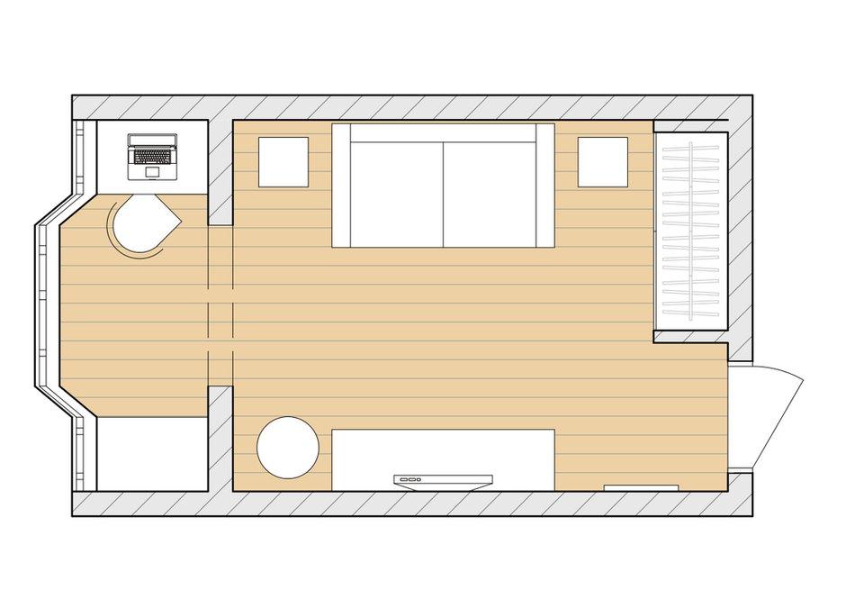 Фотография: Планировки в стиле , Эклектика, Квартира, Дома и квартиры, И-155 – фото на INMYROOM