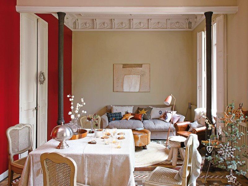 Фотография: Гостиная в стиле , Эклектика, Декор интерьера, Квартира, Дом, Праздник, Дома и квартиры – фото на INMYROOM
