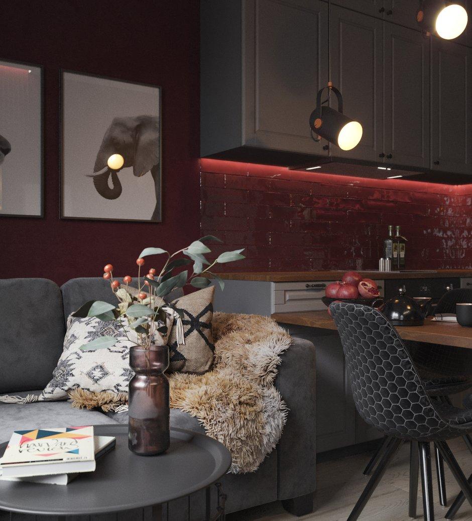 Фотография: Кухня и столовая в стиле Современный, Квартира, Проект недели, Москва, Юлия Чернова, 1 комната, до 40 метров – фото на INMYROOM