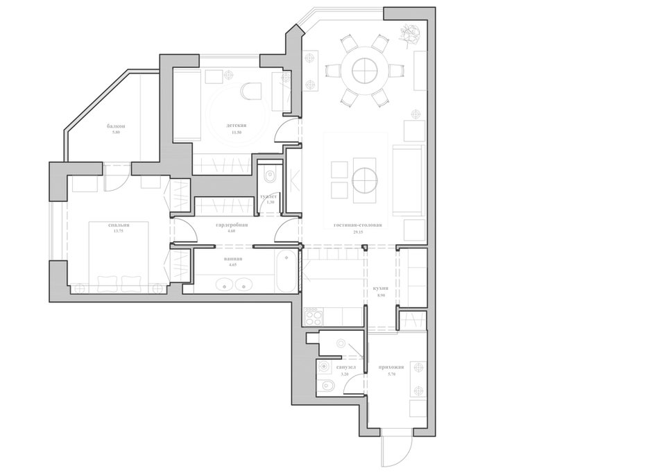 Фотография: Планировки в стиле , Квартира, Дома и квартиры, Проект недели, Москва, Неоклассика – фото на INMYROOM