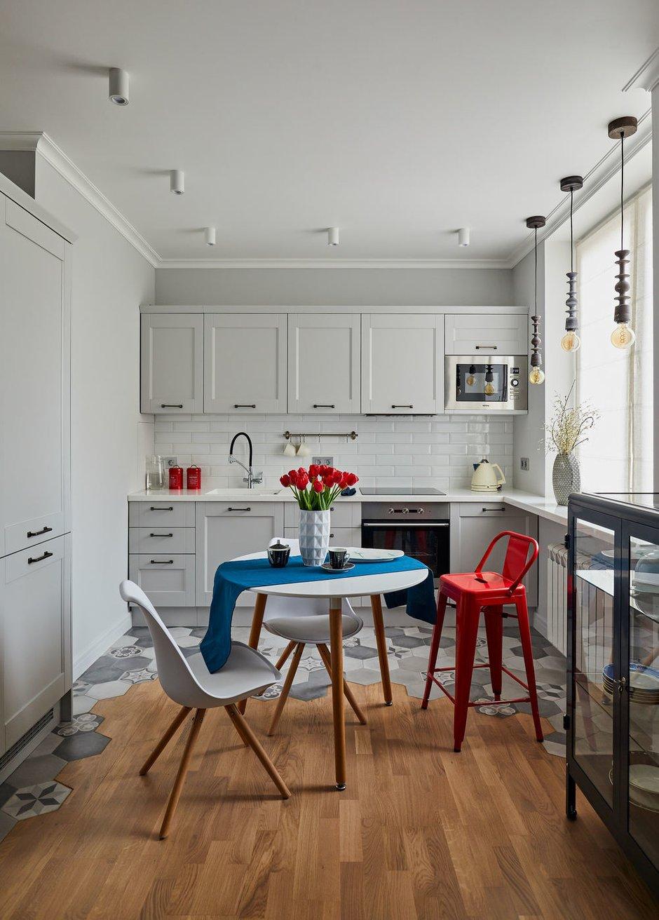 Фотография: Кухня и столовая в стиле Современный, Квартира, Студия, Проект недели, Долгопрудный, 1 комната, до 40 метров, Марина Каралкина – фото на INMYROOM