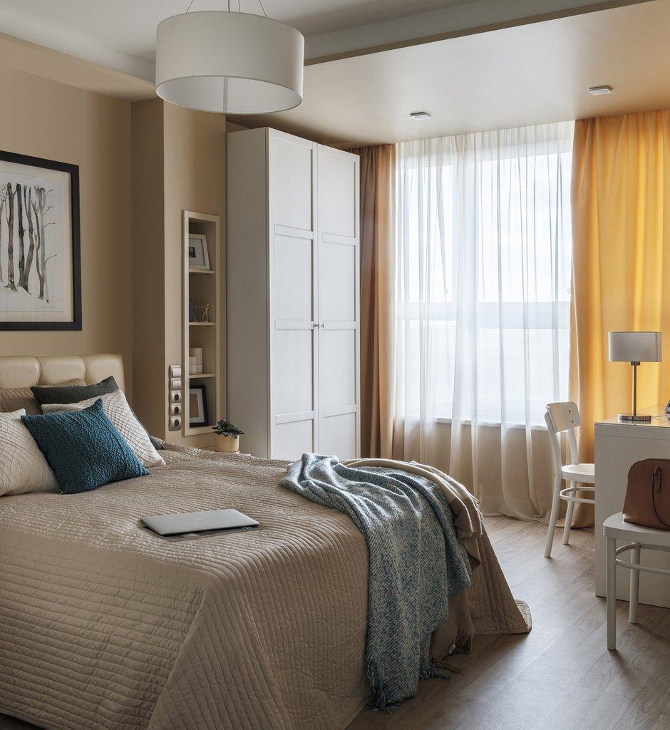 Фотография: Спальня в стиле Современный, Квартира, Проект недели, Москва, 1 комната, 40-60 метров, Монолитно-кирпичный, Светлана Краснова, ПРЕМИЯ INMYROOM – фото на INMYROOM