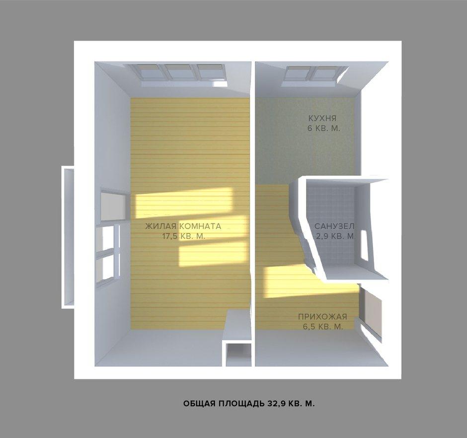 Фотография: Спальня в стиле Современный, Малогабаритная квартира, Квартира, Планировки, Перепланировка, Ремонт на практике, Ксения Чупина, перепланировка недели, идеи перепланировки однушки, перепланировка однокомнатной квартиры, как обустроить однушку, как сделать из однушки студию, перепланировка однушки в санкт-петербурге, перепланировка в хрущевке, перепланировка в брежневке, Панельный дом, 1 комната, до 40 метров, I-507 – фото на INMYROOM